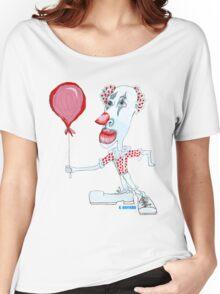 Circus Clown w. Red Ballon Women's Relaxed Fit T-Shirt