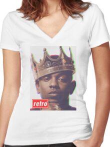 Kendrick Lamar - Retro  Women's Fitted V-Neck T-Shirt