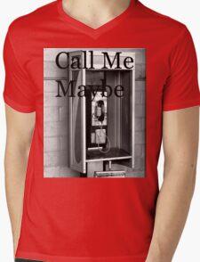 Call Me Mens V-Neck T-Shirt