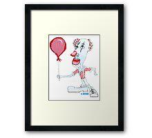 Circus Clown w. Red Ballon Framed Print