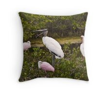 Birds Roosting in Trees  Throw Pillow