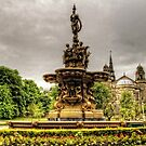 Ross Fountain and St Cuthbert's Church by Tom Gomez