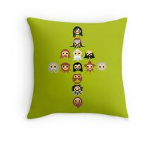 13 Dwarves Throw Pillow