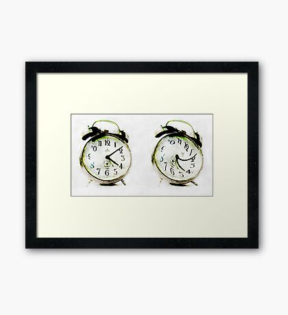 Serious VS Playful  Framed Print