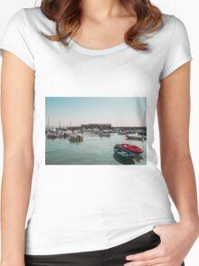 Lyme Regis Harbour Women's Fitted Scoop T-Shirt
