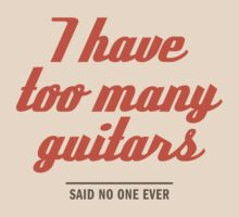 too many guitars by e2productions