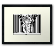 endangered TIGER BARCODE illustration Framed Print