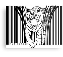 endangered TIGER BARCODE illustration Metal Print