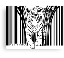 endangered TIGER BARCODE illustration Canvas Print