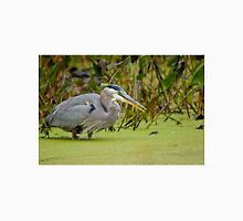 Blue Heron in Pond T-Shirt