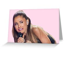 Ariana Grande VS Fashion Show Greeting Card