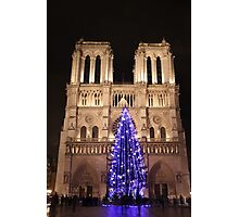 Christmas Tree by Notre-Dame Photographic Print