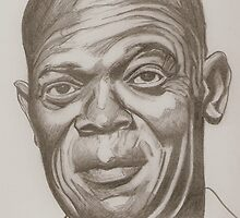 Samuel L. Jackson drawing by RobCrandall