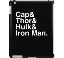 Cap & Thor & Hulk & Iron Man. (inverse) iPad Case/Skin