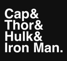 Cap & Thor & Hulk & Iron Man. (inverse) T-Shirt