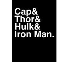 Cap & Thor & Hulk & Iron Man. (inverse) Photographic Print