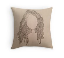 Faceless Girl Throw Pillow