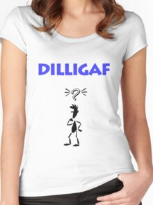 DILLIGAF Women's Fitted Scoop T-Shirt