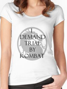 Trial by Kombat Women's Fitted Scoop T-Shirt
