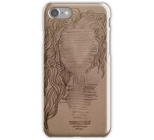 Faceless wavy-haired human. iPhone Case/Skin
