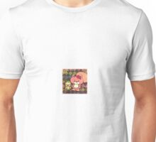 Mr. Squiggles the pink squirrel and Quaker Parrot friend Unisex T-Shirt
