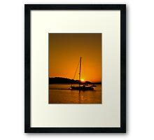 Nelson Bay Sunset No 1 Framed Print