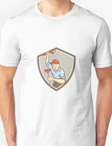 Plumber Wrench Plunger Front Shield Cartoon T-Shirt