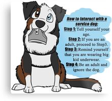 How To Interact With a Service Dog Metal Print