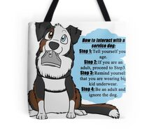 How To Interact With a Service Dog Tote Bag