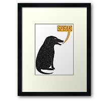 Big Dog in Charge Framed Print
