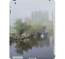 Mist on the River Frome Wareham UK iPad Case/Skin