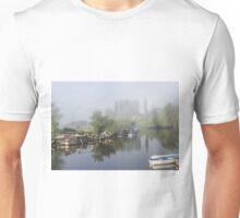 Mist on the River Frome Wareham UK Unisex T-Shirt