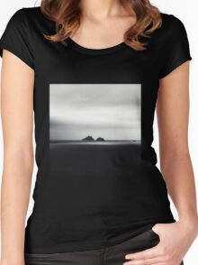 Skellig Islands Women's Fitted Scoop T-Shirt