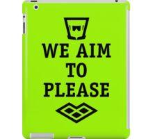 we A.I.M. to please iPad Case/Skin