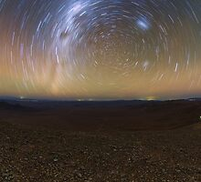 Starry Night - Star Trails in the Night Sky by verypeculiar