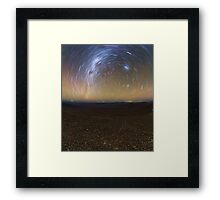 Starry Night - Star Trails in the Night Sky Framed Print