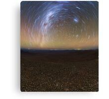 Starry Night - Star Trails in the Night Sky Canvas Print