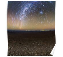 Starry Night - Star Trails in the Night Sky Poster