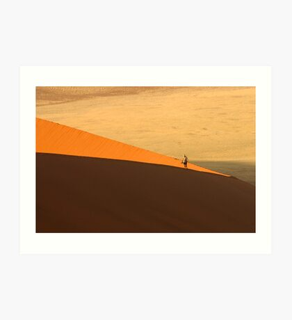 Tourist on Dune 45 Art Print