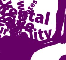 MayDay 2008: a celebration of work and family - Purple print Sticker