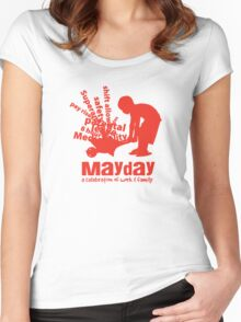 MayDay 2008: a celebration of work and family - Red print Women's Fitted Scoop T-Shirt