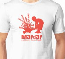 MayDay 2008: a celebration of work and family - Red print Unisex T-Shirt