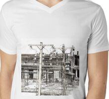 View From A Bridge Mens V-Neck T-Shirt