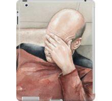 Captain Picard Facepalm Meme Watercolor iPad Case/Skin