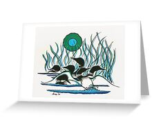 A Family of Loons Greeting Card
