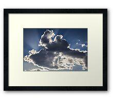 Clouds, sun burst #1 Framed Print