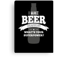 Beer Super Powers Canvas Print