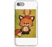 Mr. Foxxy Holiday Greeting, Christmas iPhone Case/Skin