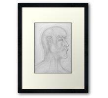 Psychedelic Head Framed Print