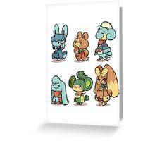 animal crossing pokemon crossover Greeting Card
